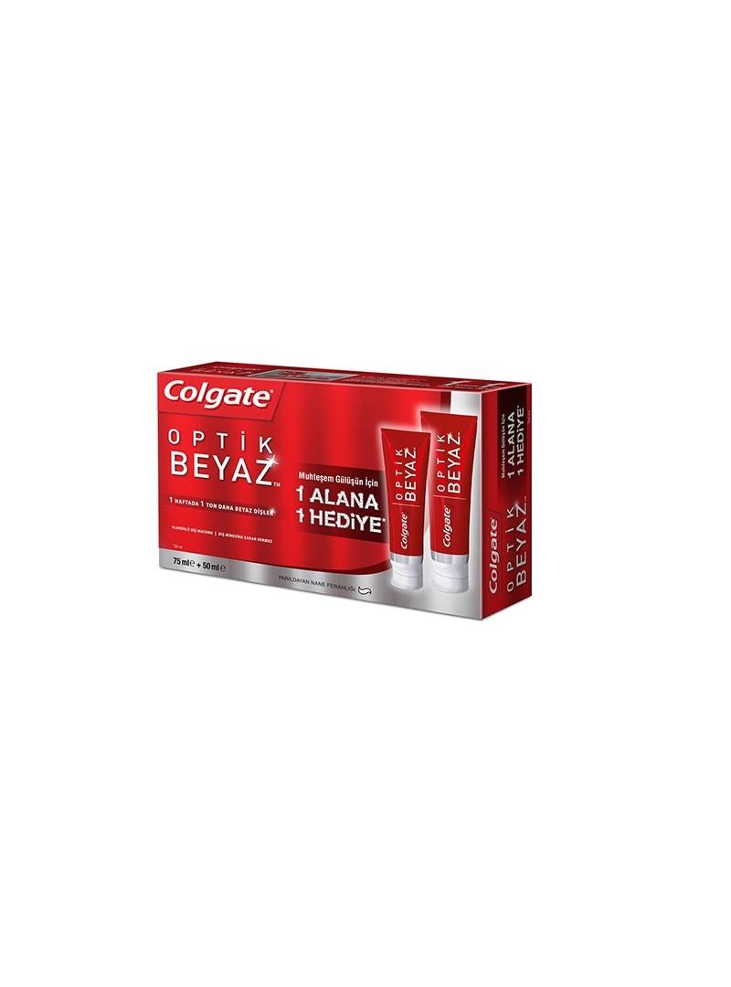Colgate Optik Beyaz Diş Macunu 75 ml+50 ml 2 Li Fırsat Paketi