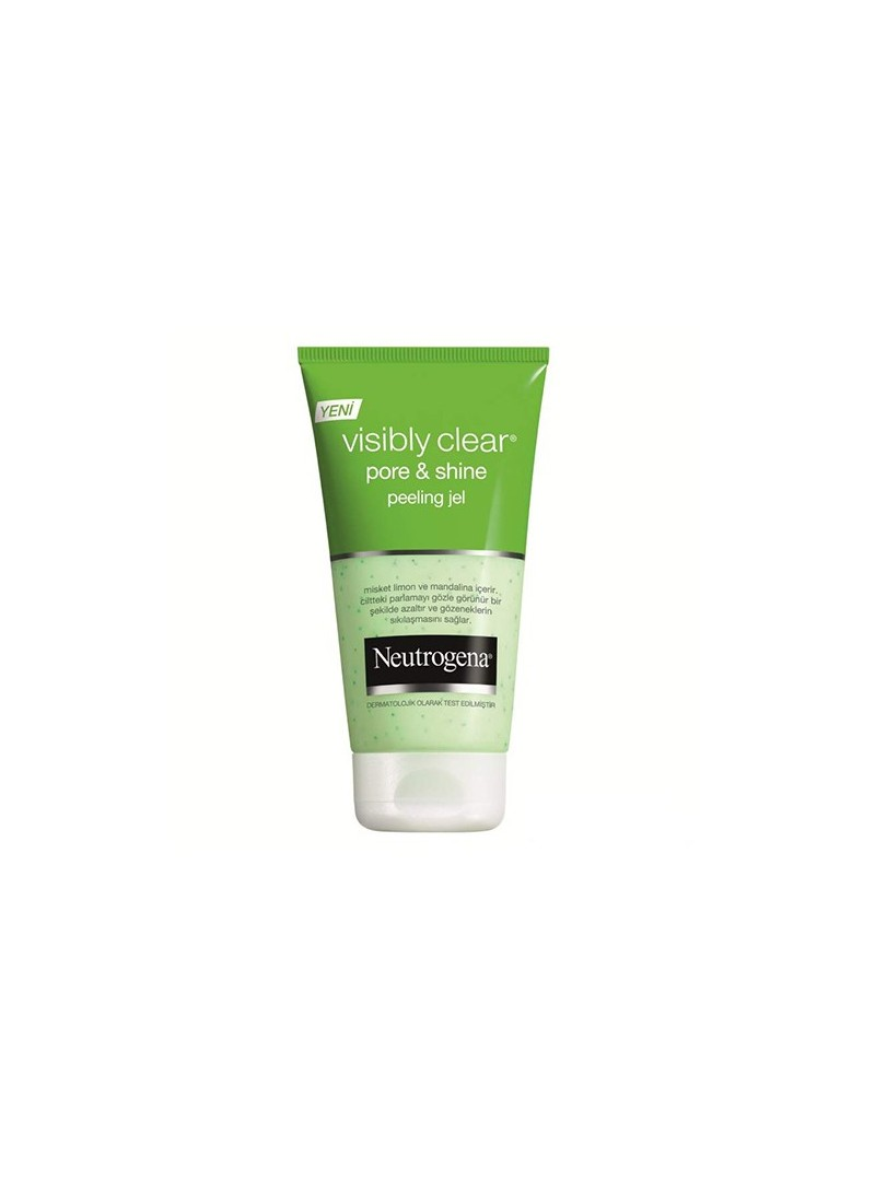 Neutrogena Visibly Clear Pore & Shine Peeling Gel ve Temizleme Jeli 150ml