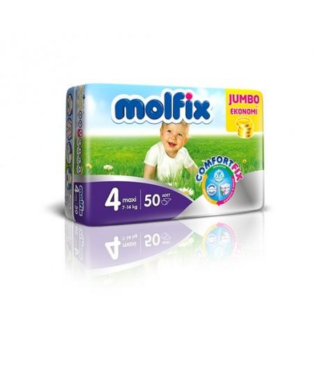 Molfix Jumbo 4 Numara (7-14 kg) 50 Adet