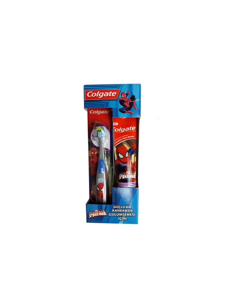 Colgate Spiderman Çocuk Diş Macunu Ve Diş Fırçası
