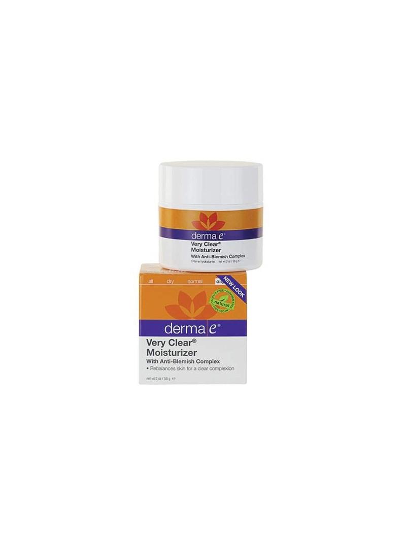 Derma E Very Clear Moisturizer Cream 56 g - Akneli Ciltler İçin Nemlendirici Krem
