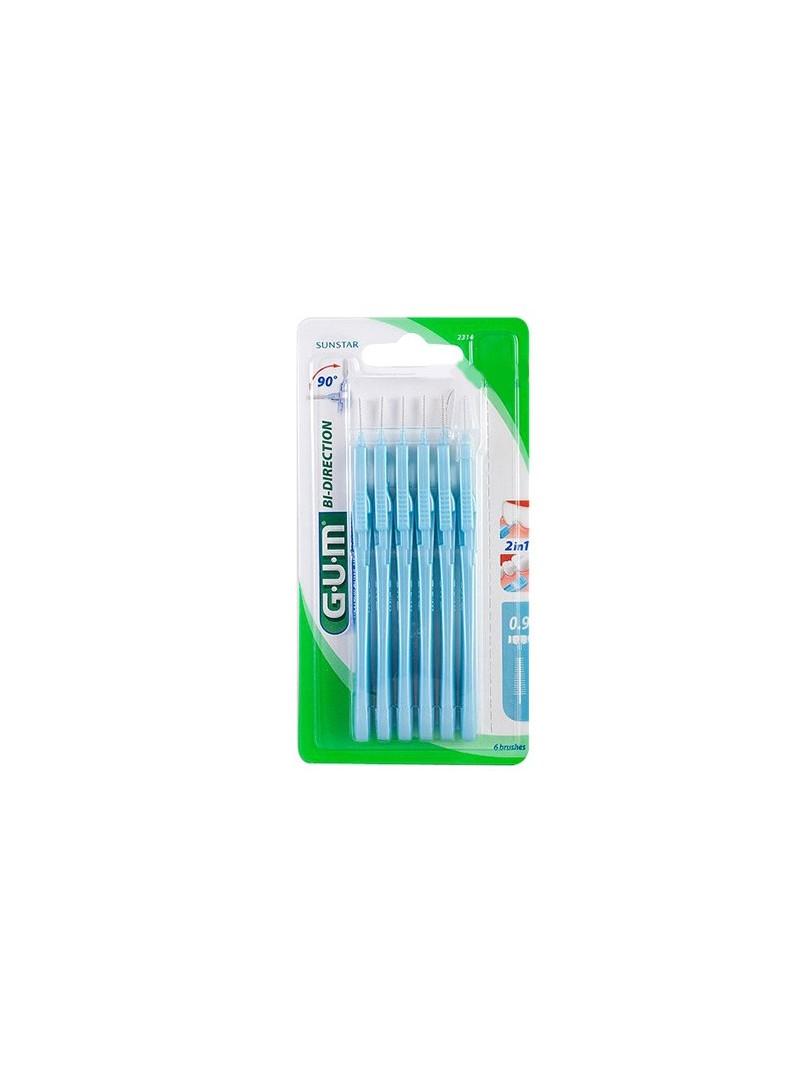 Gum Bi Direction Arayüz Fırçası 0.9 mm Mavi
