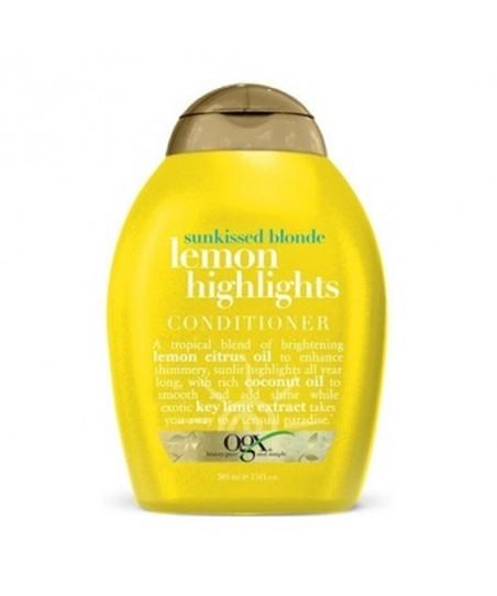 Organix Lemon Highlights Conditioner 385 ml Sarı Saçlar İçin Saç Bakım Kremi