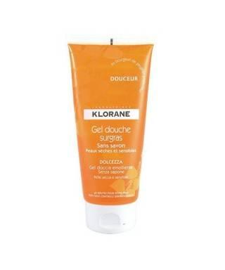 Klorane Gel Douche Surgras Douceur Portakal Çiçeği ve Gül Esanslı Duş Jeli 200ml.