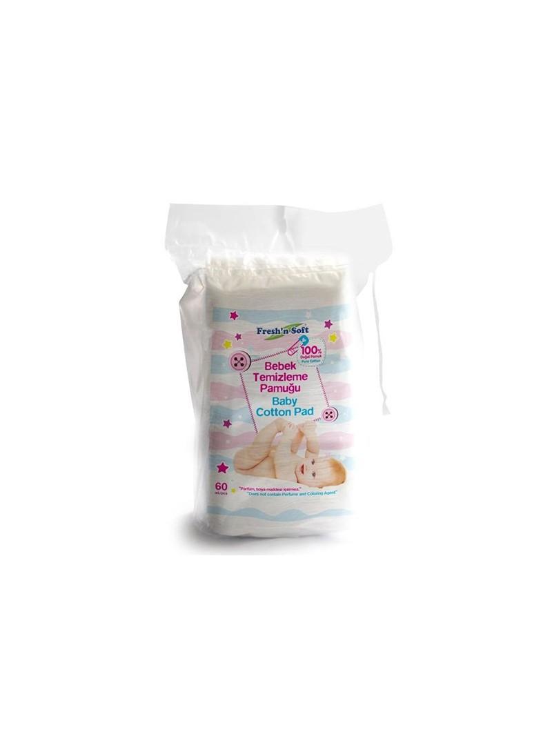 Fresh'n Soft Bebek Temizleme Pamuk 60 lı