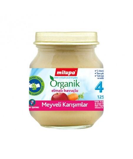 Milupa organik elmalı havuçlu kavanoz maması 125gr
