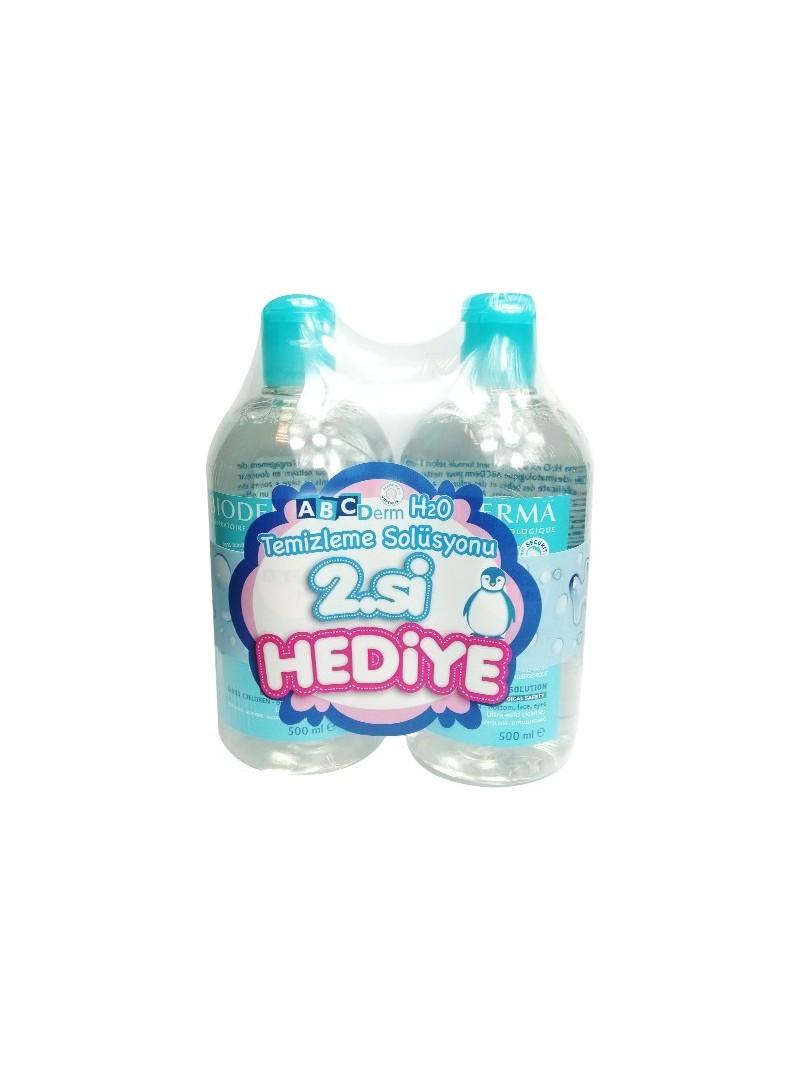 Bioderma Abcderm H2O + Temizleme Solüsyonu - 2x500ml