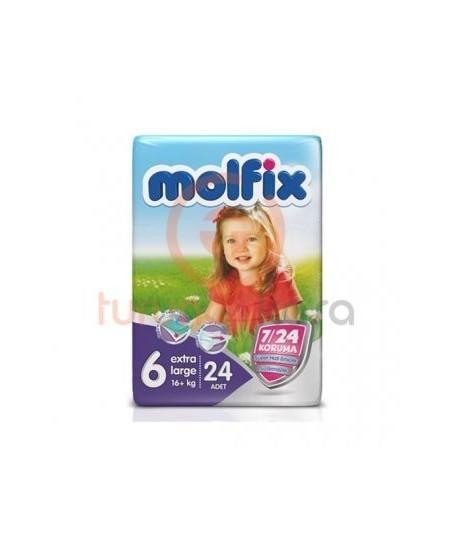 Molfix Extra Large 6 Numara (16+ kg) 24 Adet