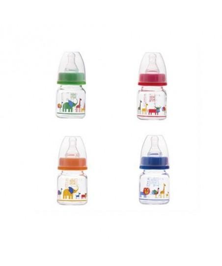 Bebedor Özel Amaçlı Desenli Mini Cam Biberon 60 ml.