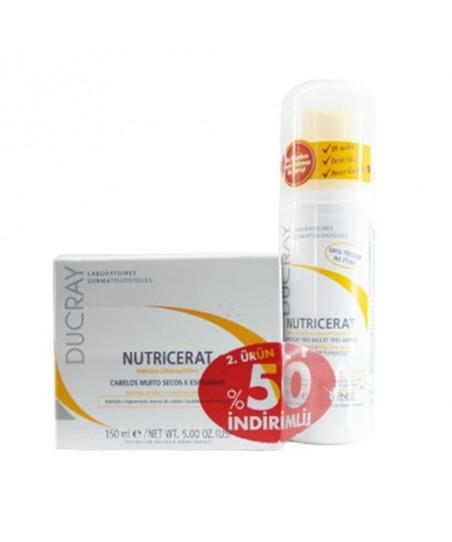 Ducray Nutricerat Masque 150ml + Nutricerat Çok Kuru ve Yıpranmış Saçlar için Koruyucu Sprey 75ml