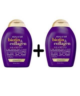 Organix Biotin & Collagen Shampoo 385 ml - Full Dolgunlaştırıcı ve Uzatıcı Şampuan x 2