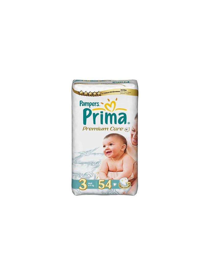 Prima Bebek Bezi Premium Care 3 Beden Midi 54 Adet