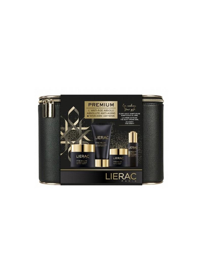 Lierac Premium Soyeuse Deri Çantalı Güzellik SETİ