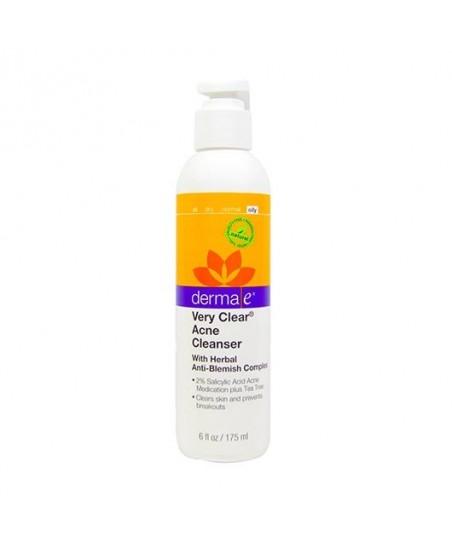 Derma E Very Clear Acne Cleanser 175 ml - Akneli Ciltler İçin Temizleyici