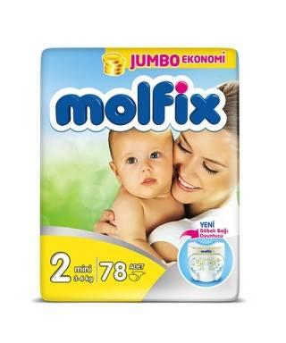 Molfix Jumbo 2 Numara (3-6 kg) 78 Adet