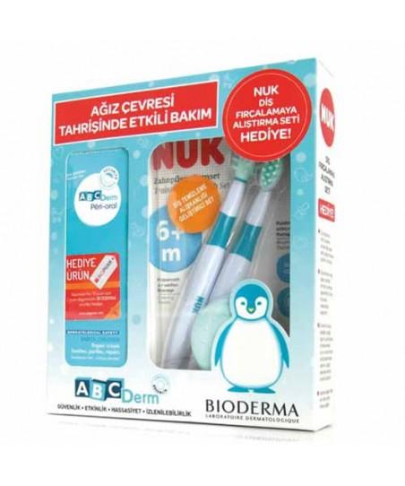 Bioderma Abcderm Peri Oral 40ml Nuk Diş Fırçası 6m 2li HEDİYE