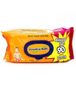 Fresh'n Soft Classic Islak Havlu 90 Adet