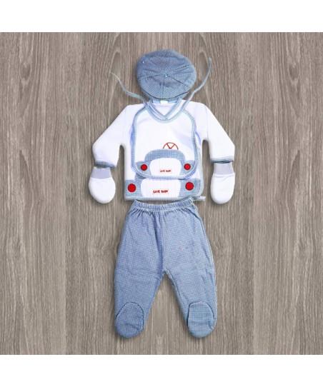 Gaye Bebe 5'li Hastane Çıkış Seti Arabalı