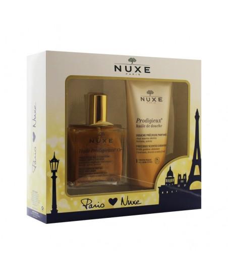 Nuxe  Huile Prodigieuse Or 100ml + Nuxe Prodigieux Huile De Douche Shower Oil 200ml
