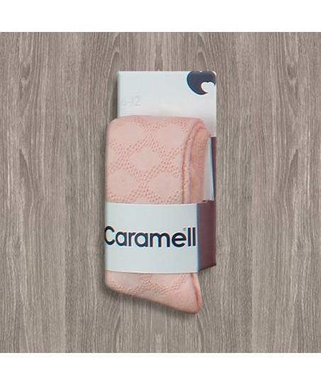 Caramell Desenli Külotlu Çorap