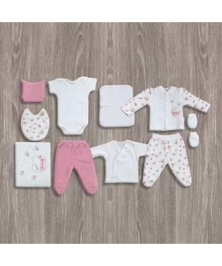 Flexi Baby Ayıcıklı 10'lu Kız Hastane Çıkış Seti