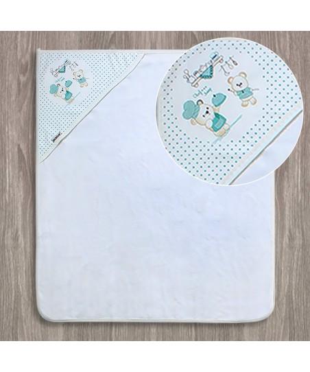 Bebitof Aşçı Ayıcık Nakışlı Bebek Banyo Havlusu