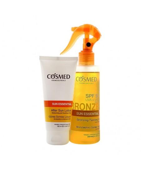 Cosmed Sun Essential Bronzing Tanning Oil Spf 50 200ml + Cosmed Sun Essential After Sun Lotion 100ml HEDİYE