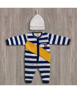 Aziz Bebe Çizgili Bebek Tulumu