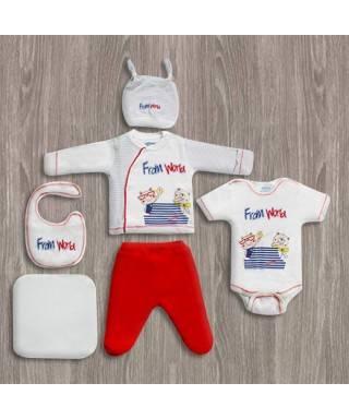 Aziz Bebe Grimelanj 6'lı Yeni Doğan Bebek Seti