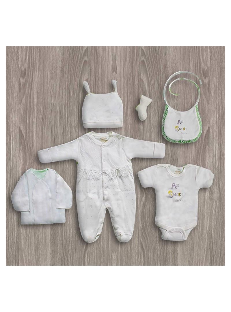 Aziz Bebe Tüllü 6'lı Yeni Doğan Bebek Seti