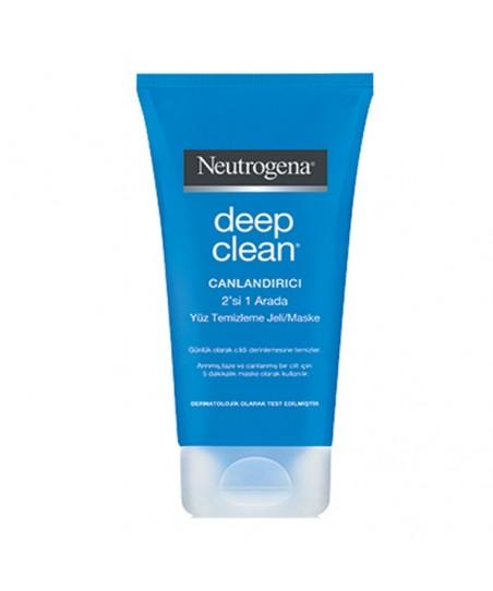 Neutrogena Deep Clean Canlandırıcı 2'si 1 Arada Yüz Temizleme Jeli/Maske 150ml