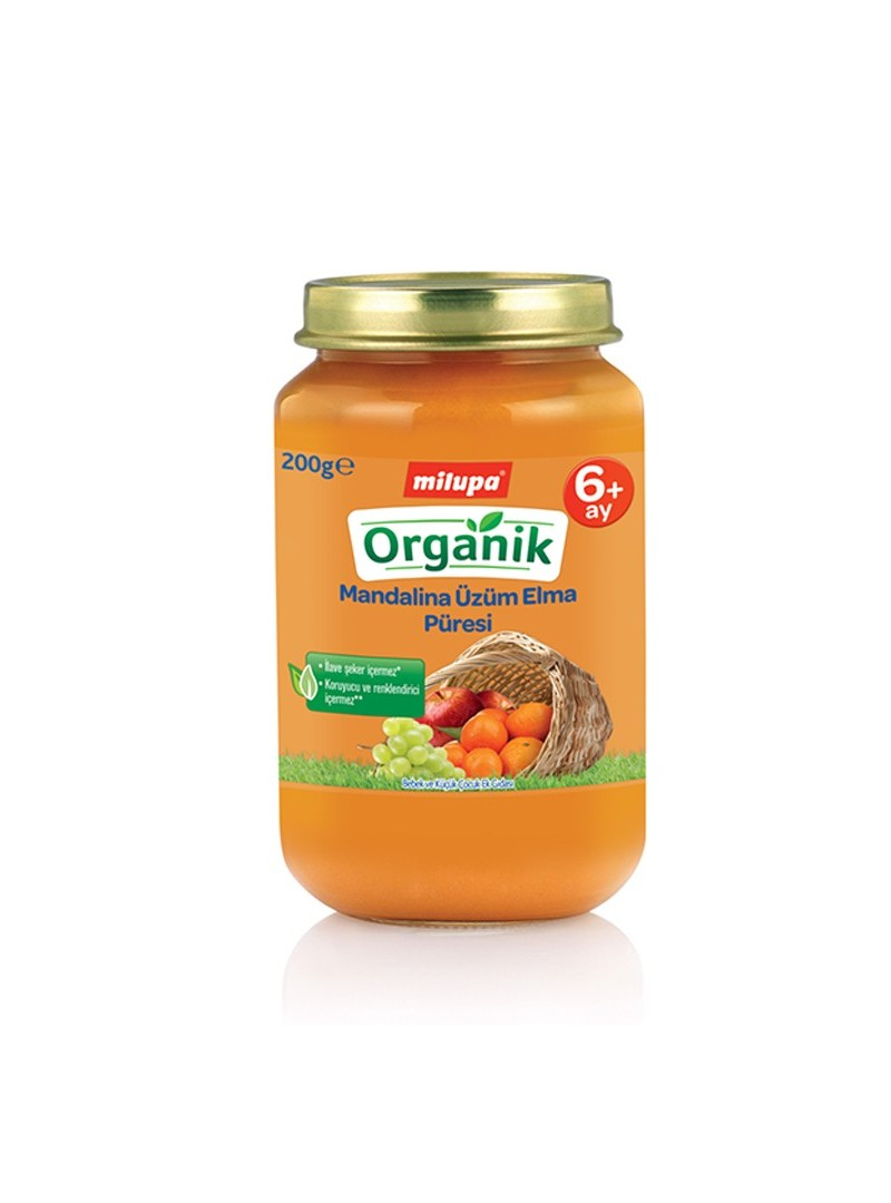 Milupa Organik Mandalina Üzüm Elma Kavanoz 200 gr