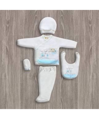Bebitof Sweet Home Baskılı 5'li Hastane Çıkış Seti