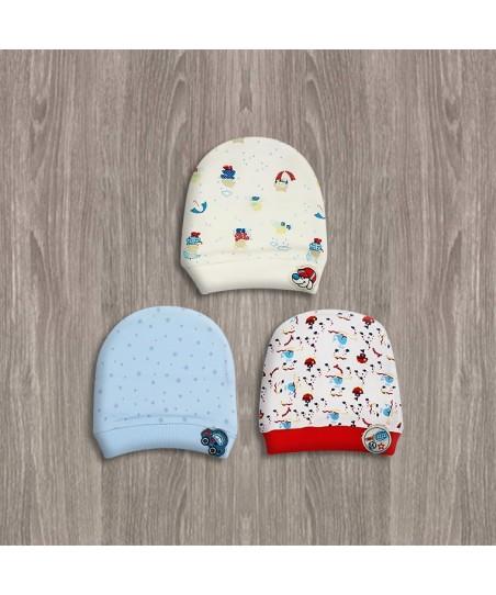 Sebi 3Lü Desenli Erkek Bebek Şapkası