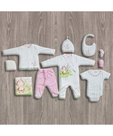Aziz Bebe Triko 10'lu Yeni Doğan Bebek Seti