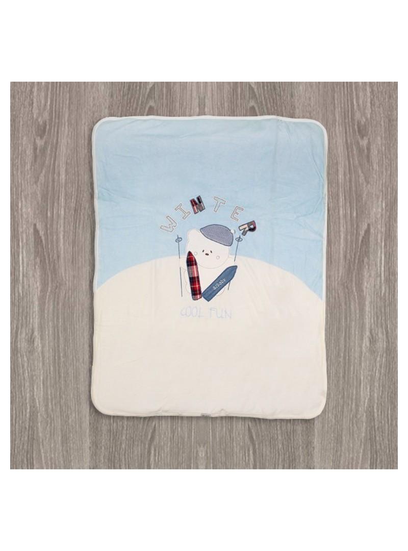 Aziz Bebe Winter Çıtçıtlı Bebek Battaniyesi