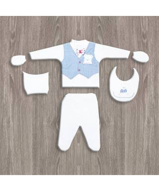 Flexi Baby Erkek 5'li Hastane Çıkış Seti