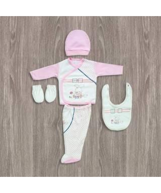 Bebitof Bebek Odası Desenli 5'li Hastane Çıkış Seti