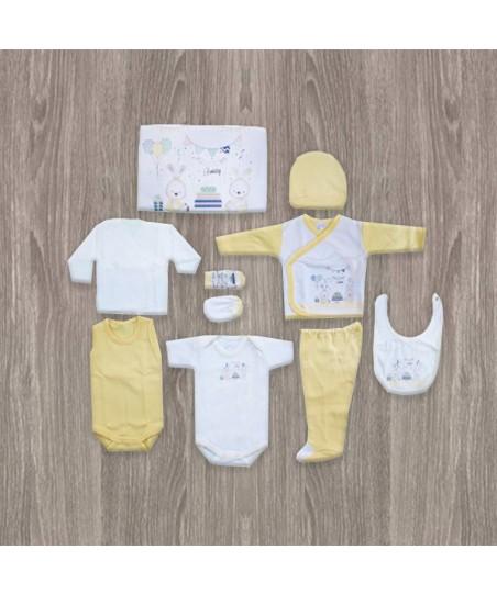 Bebitof Doğum Günü Partisi Desenli 10'lu Hastane Çıkış Seti