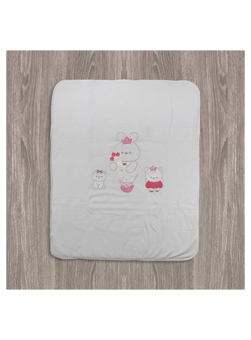Aziz Bebe Çıtçıtlı Tavşan Desenli Bebek Battaniyesi