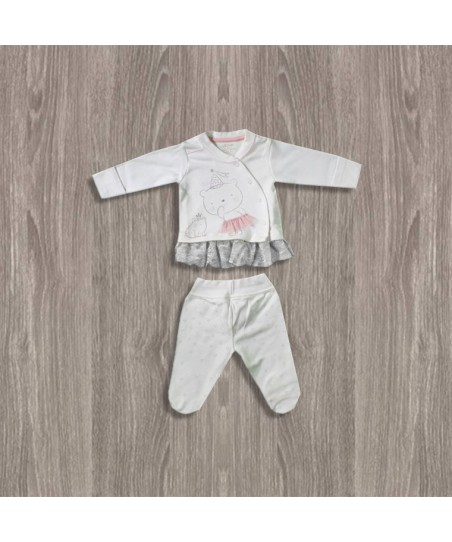 Aziz Bebe Ekru-Pembe 2'li Kız Takımı