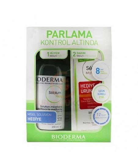 Bioderma Sebium Mat Control 30ml + Sebium H2O 100ml HEDİYE - Kofre