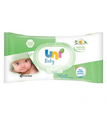 Uni baby Natural Islak Pamuk Mendil 56'lı