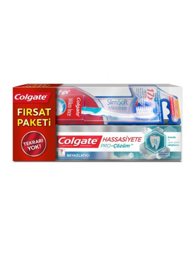 Colgate Pro Çözüm Diş Macunu 75ml + Mikro İnce Diş Fırçası