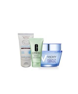 PROMOSYON - Vichy Aqualia Thermal Light 15 ml + Clinique Foaming Sonic Facial Soap 30 ml + Avene Reparateur Apres Soleil Lotion