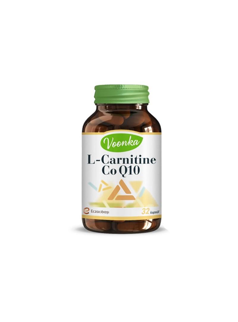 Voonka L-Carnitine CoQ10 Takviye Edici Gıda 32 Kapsül
