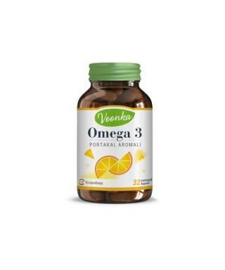 Voonka Omega 3 Portakal Aromalı Takviye Edici Gıda 32 Kapsül