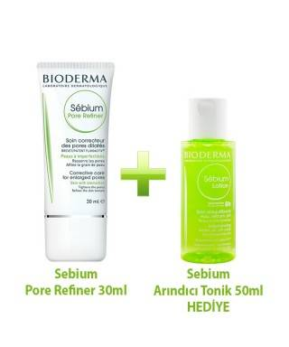 Bioderma Sebium Pore Refiner 30ml ve Sebium Lotion 50ml Kofre