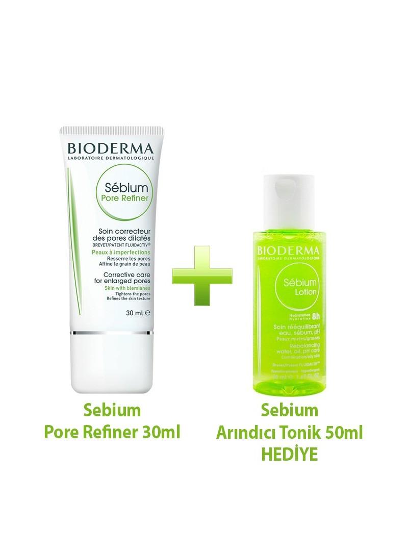 Bioderma Sebium Pore Refiner 30ml ve Sebium Lotion 50ml Kofre