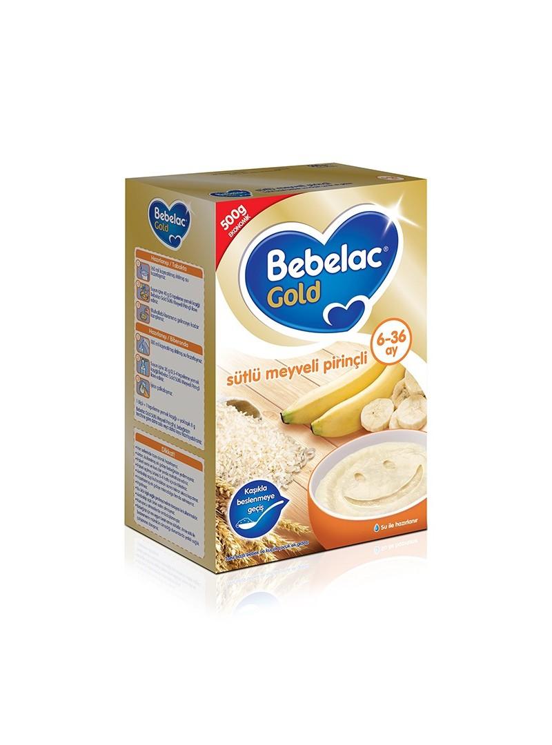 Bebelac Gold Sütlü Meyveli Pirinçli 500 gr Kaşık Maması